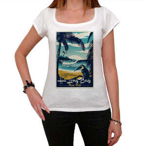 Ha Long Bay Pura Vida Beach Name White Womens Short Sleeve Round Neck T-Shirt 00297 - White / Xs - Casual