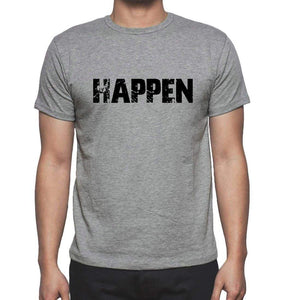 Happen Grey Mens Short Sleeve Round Neck T-Shirt 00018 - Grey / S - Casual