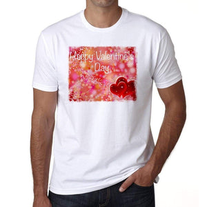 Happy Valentines Day 1 Mens Tee White 100% Cotton 00156