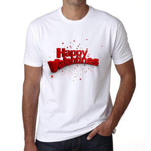 Happy Valentines Mens Tee White 100% Cotton 00156