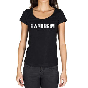 Hardheim German Cities Black Womens Short Sleeve Round Neck T-Shirt 00002 - Casual