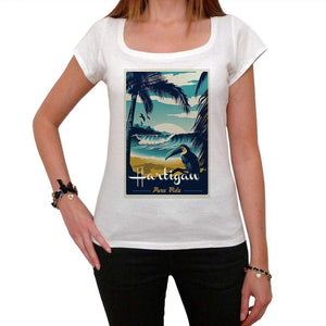 Hartigan Pura Vida Beach Name White Womens Short Sleeve Round Neck T-Shirt 00297 - White / Xs - Casual