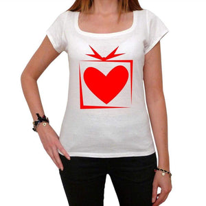 Heart Box Tshirt White Womens T-Shirt 00157