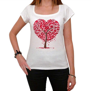 Heart Tree Transparent Tshirt White Womens T-Shirt 00157