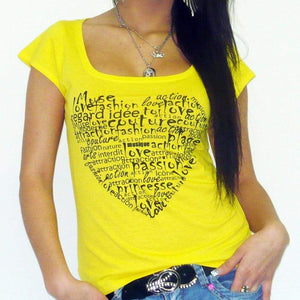 Heart:womens T-Shirt Short-Sleeve One In The City