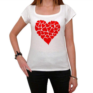 Hearts For Valentines Day Tshirt White Womens T-Shirt 00157