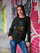 ULTRABASIC Women's Sweatshirt Cat and Bird Colorful - Kitten Funny Sweater for Ladies