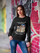 ULTRABASIC Women's Sweatshirt She Also Needs Cat - Cute Cat With Books