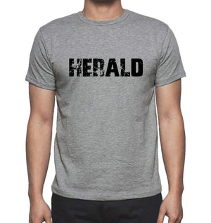 Herald Grey Mens Short Sleeve Round Neck T-Shirt 00018 - Grey / S - Casual
