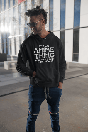 Printed Graphic Unisex It's an Anime Thing Hoodie Casual Hooded Sweatshirt