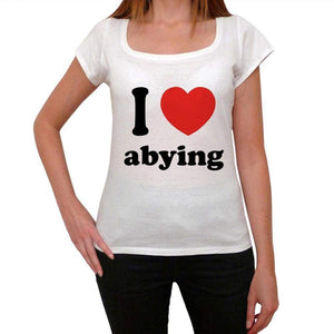 I Love Abying Womens Short Sleeve Round Neck T-Shirt 00037 - Casual