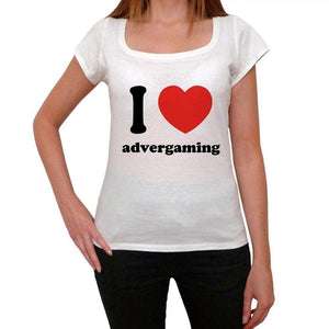 I Love Advergaming Womens Short Sleeve Round Neck T-Shirt 00037 - Casual