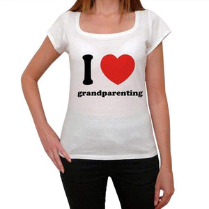 I Love Grandparenting Womens Short Sleeve Round Neck T-Shirt 00037 - Casual