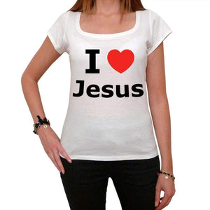 I Love Jesus Women T-Shirt For Women Short Sleeve Cotton Tshirt Women T Shirt Gift - T-Shirt