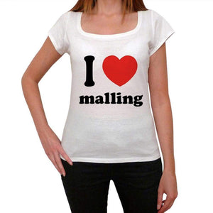 I Love Malling Womens Short Sleeve Round Neck T-Shirt 00037 - Casual