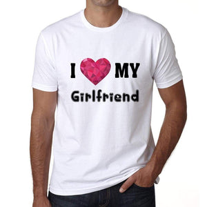 I Love My Girlfriend Mens Short Sleeve Round Neck T-Shirt - Shirts