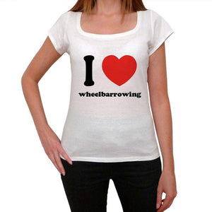 I Love Wheelbarrowing Womens Short Sleeve Round Neck T-Shirt 00037 - Casual