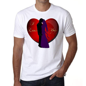 I Love You Valentine Mens Tee White 100% Cotton 00156