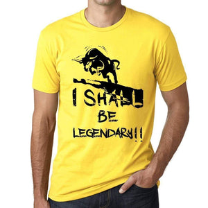 I Shall Be Legendary Mens T-Shirt Yellow Birthday Gift 00379 - Yellow / Xs - Casual