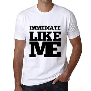 Immediate Like Me White Mens Short Sleeve Round Neck T-Shirt 00051 - White / S - Casual