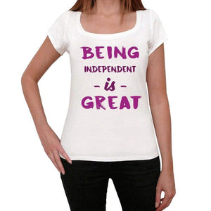 Independent Being Great White Womens Short Sleeve Round Neck T-Shirt Gift T-Shirt 00323 - White / Xs - Casual
