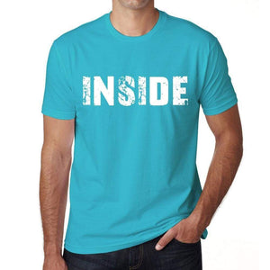Inside Mens Short Sleeve Round Neck T-Shirt 00020 - Blue / S - Casual