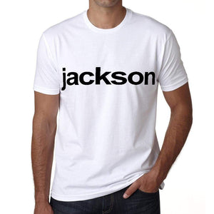 Jackson Tshirt Mens Short Sleeve Round Neck T-Shirt 00050