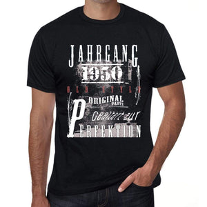 Jahrgang Birthday 1950 Black Mens Short Sleeve Round Neck T-Shirt Gift T-Shirt 00352 - Black / Xs - Casual