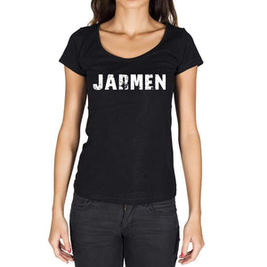 Jarmen German Cities Black Womens Short Sleeve Round Neck T-Shirt 00002 - Casual