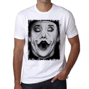 Joker Face Mens Tee White 100% Cotton 00164