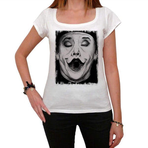 Joker Face Tshirt White Womens T-Shirt 00163