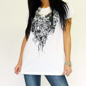 Jungle-Heart: Womens Tunic Short-Sleeve One In The City 00271