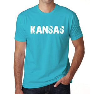 Kansas Mens Short Sleeve Round Neck T-Shirt 00020 - Blue / S - Casual
