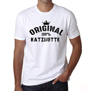 Katzhütte 100% German City White Mens Short Sleeve Round Neck T-Shirt 00001 - Casual