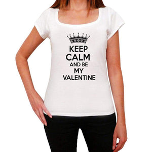 Keep Calm And Be My Valentine Womens Short Sleeve T-Shirt - Shirts