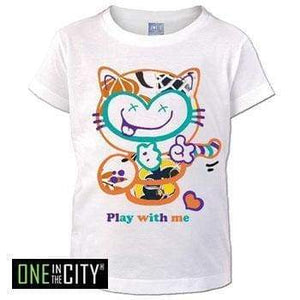 Kids T-Shirt One In The City Cat Short Sleeve