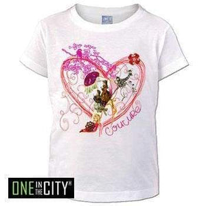 Kids T-Shirt One In The City Coquette Short Sleeve