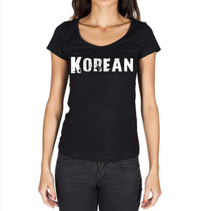 Korean Womens Short Sleeve Round Neck T-Shirt - Casual