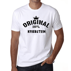 Kriebstein 100% German City White Mens Short Sleeve Round Neck T-Shirt 00001 - Casual