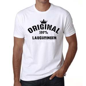 Lauchringen 100% German City White Mens Short Sleeve Round Neck T-Shirt 00001 - Casual