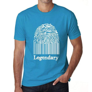 Legendary Fingerprint, Blue, <span>Men's</span> <span><span>Short Sleeve</span></span> <span>Round Neck</span> T-shirt, gift t-shirt 00311 - ULTRABASIC