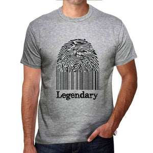 Legendary Fingerprint, Grey, <span>Men's</span> <span><span>Short Sleeve</span></span> <span>Round Neck</span> T-shirt, gift t-shirt 00309 - ULTRABASIC