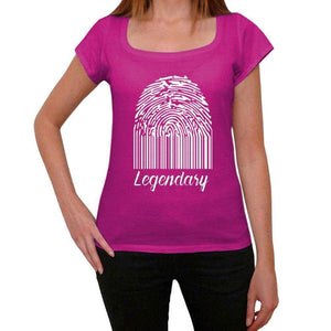 Legendary Fingerprint, pink, <span>Women's</span> <span><span>Short Sleeve</span></span> <span>Round Neck</span> T-shirt, gift t-shirt 00307 - ULTRABASIC