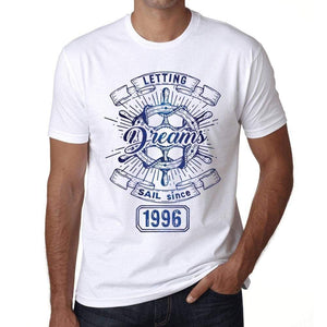 Letting Dreams Sail Since 1996 Mens T-Shirt White Birthday Gift 00401 - White / Xs - Casual
