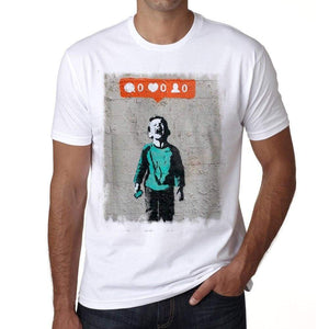 Likes Mens Tee White 100% Cotton 00164