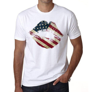Lips Usa Mens Short Sleeve Round Neck T-Shirt