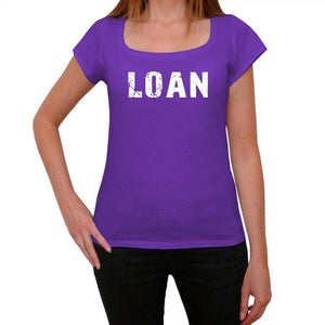 Loan Purple Womens Short Sleeve Round Neck T-Shirt 00041 - Purple / Xs - Casual