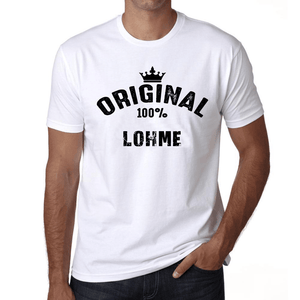 Lohme 100% German City White Mens Short Sleeve Round Neck T-Shirt 00001 - Casual