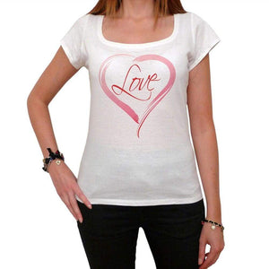 Love In Heart Tshirt White Womens T-Shirt 00157