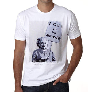 Love Is The Answer Mens Tee White 100% Cotton 00164